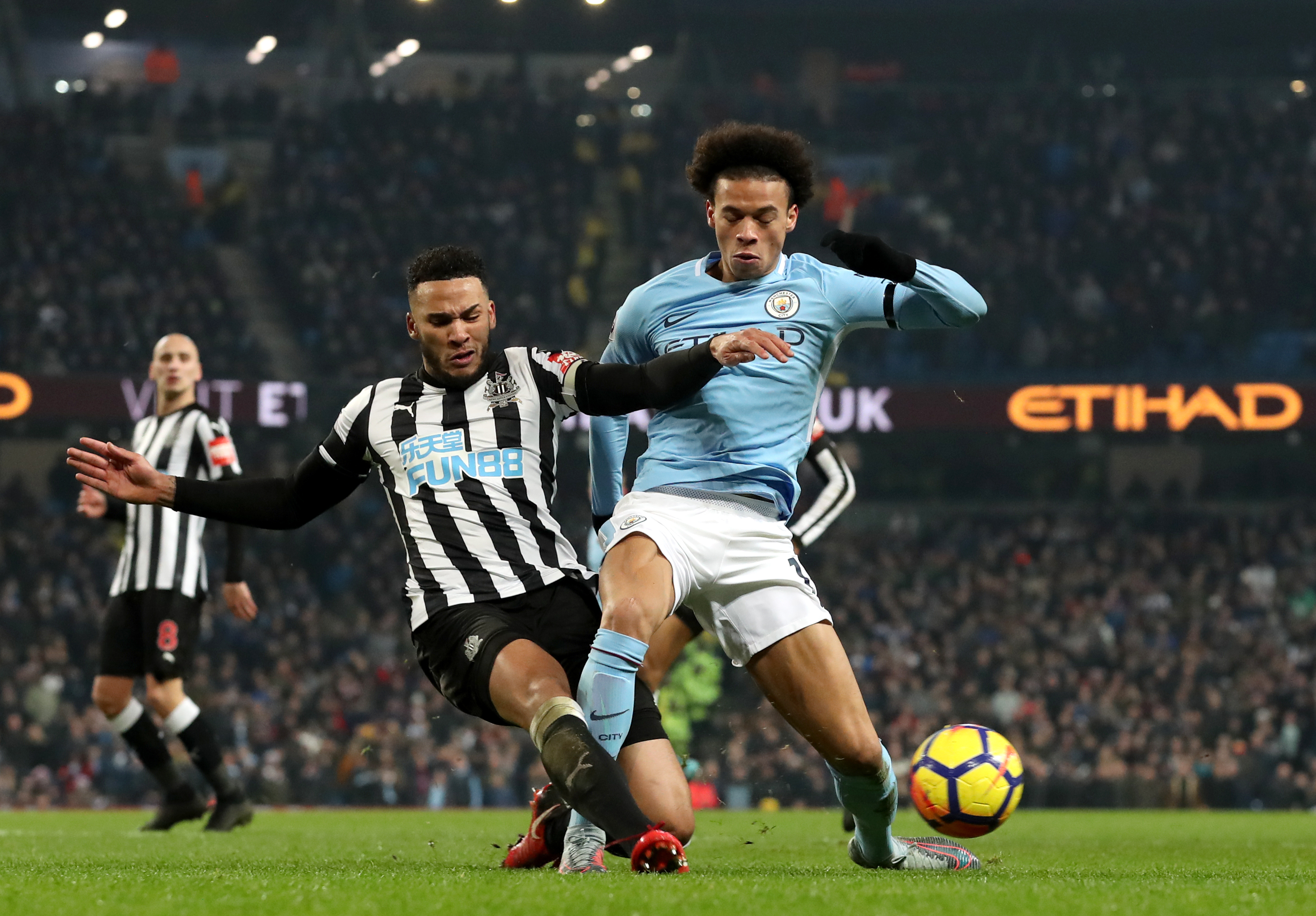 Lascelles in action for Newcastle. Image PA