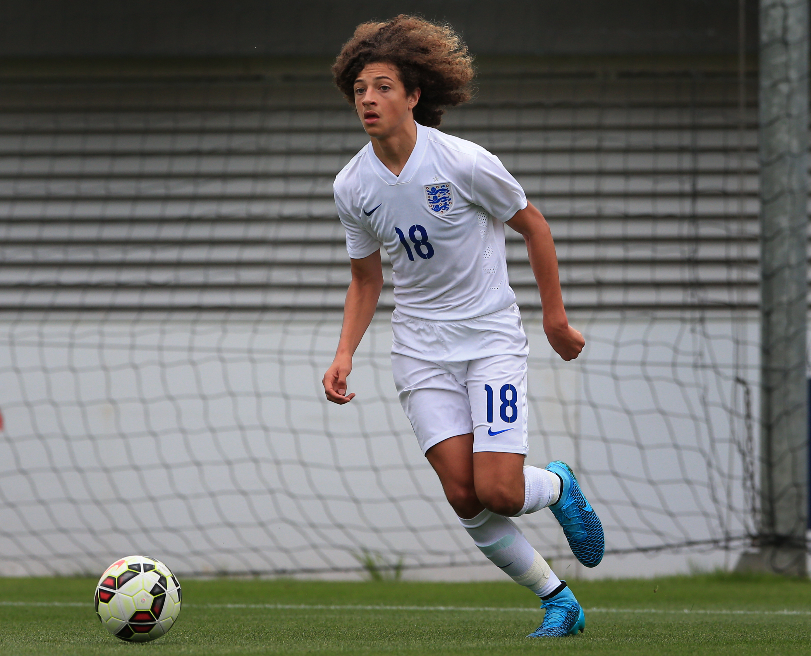 Ampadu playing for the young England team. Image: PA Images