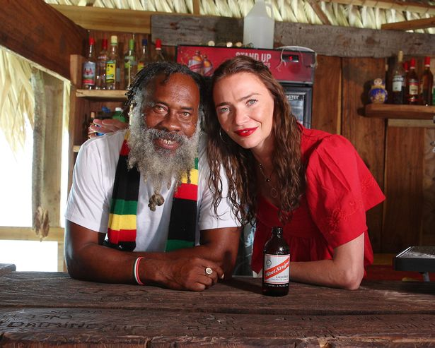 Floyd with supermodel-turned-publican Jodie Kidd. Credit: Virgin Holidays