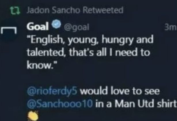 Manchester United 'confident of signing Jadon Sancho'