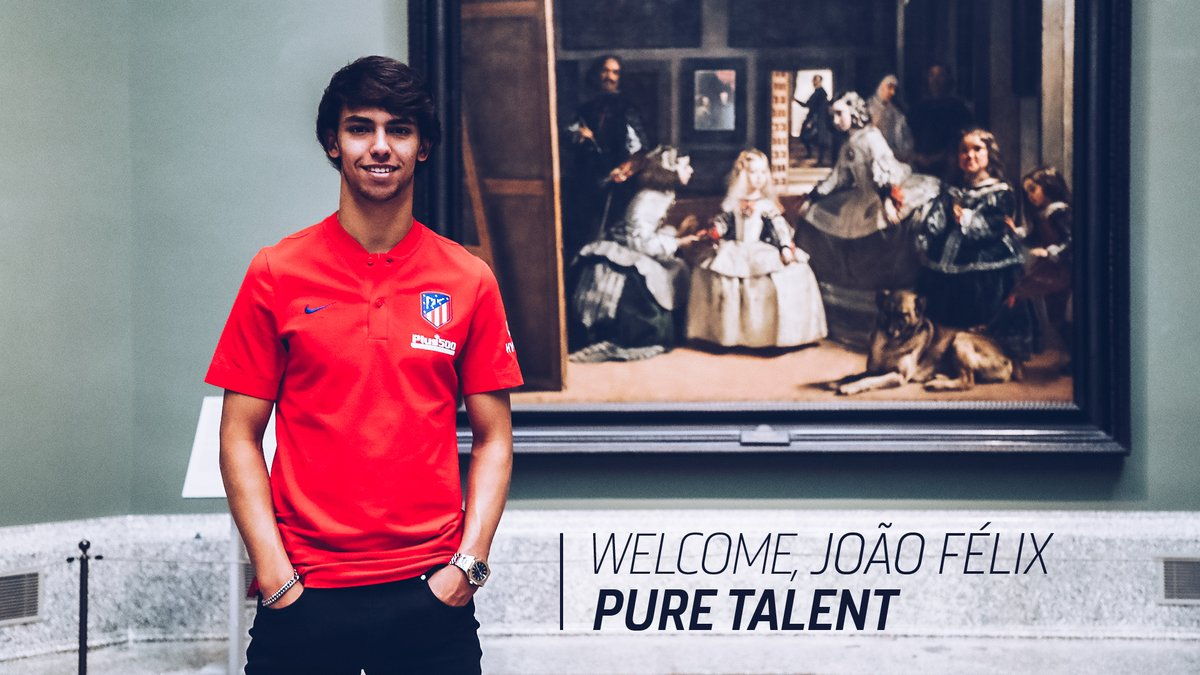 Atletico Madrid seal €126m deal for teenager Joao Felix
