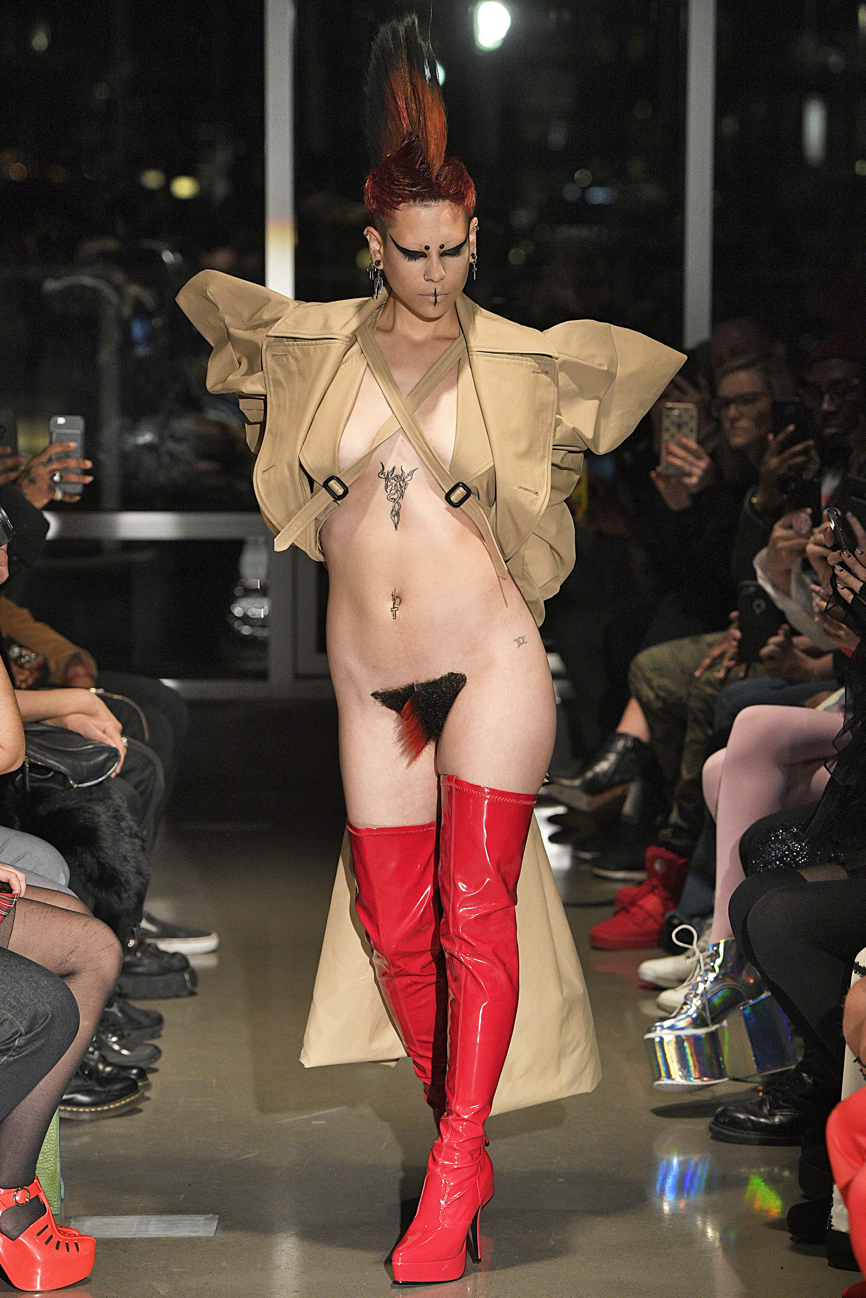 Fashion Designer Showcases Pubic Wigs At New York