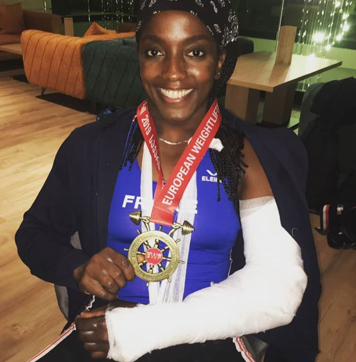 Gaelle Nayo Ketchanke smiling following the accident. Credit: Instagram/Gaelle Nayo Ketchanke