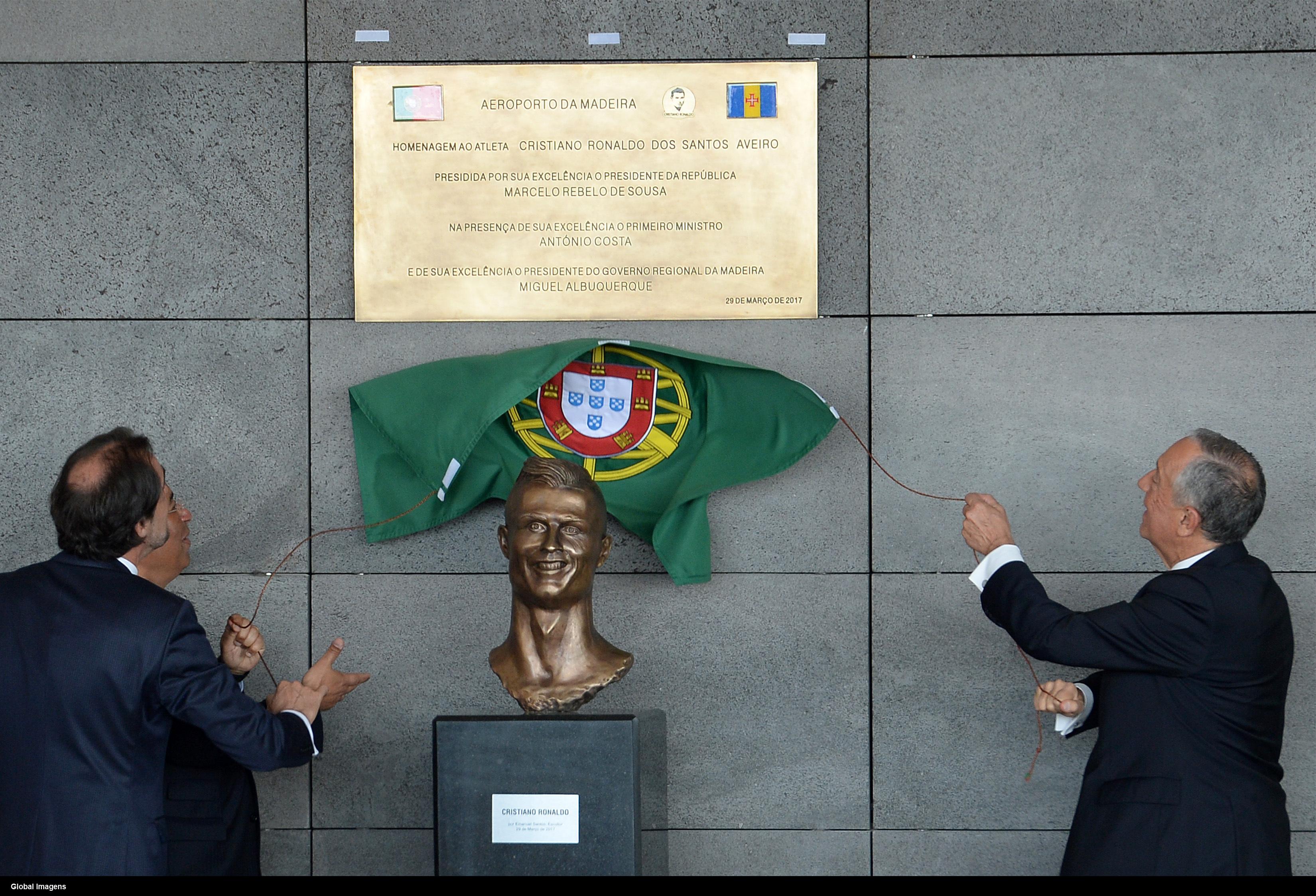 Cristiano Ronaldo's new bust actually resembles Cristiano Ronaldo