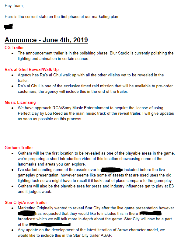 This is the supposedly leaked email