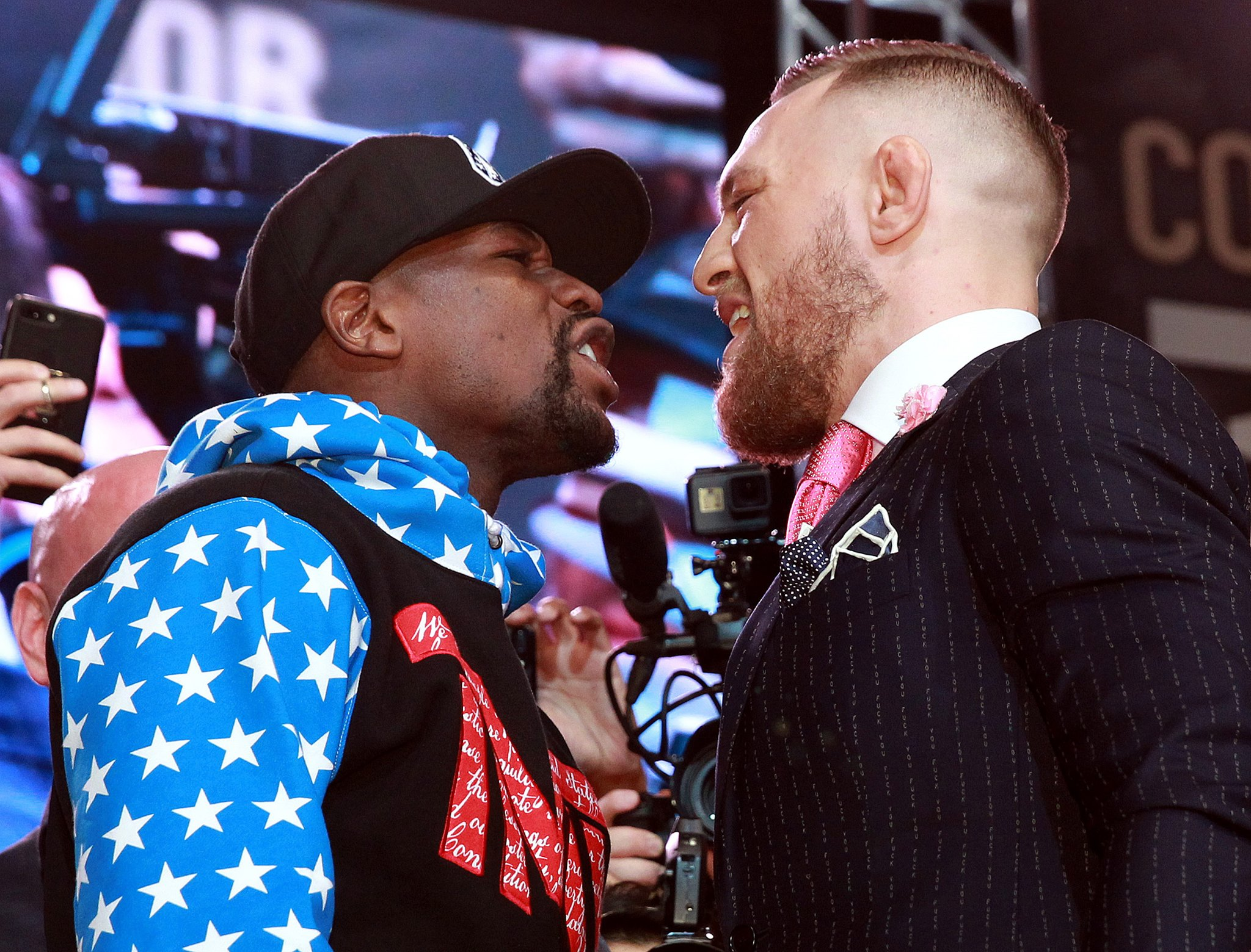 Fighting words: Conor McGregor calls Floyd Mayweather 'boy'