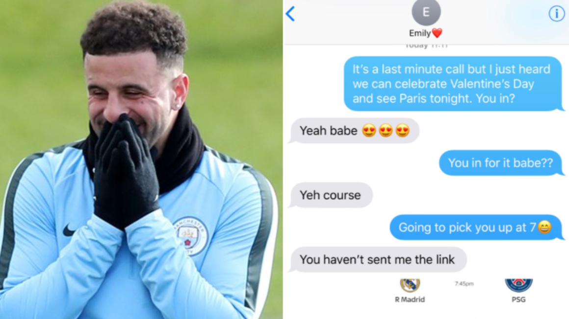 Kyle Walker's 'Valentine's Day Twitter Challenge' Is The Best Thing You'll See Today