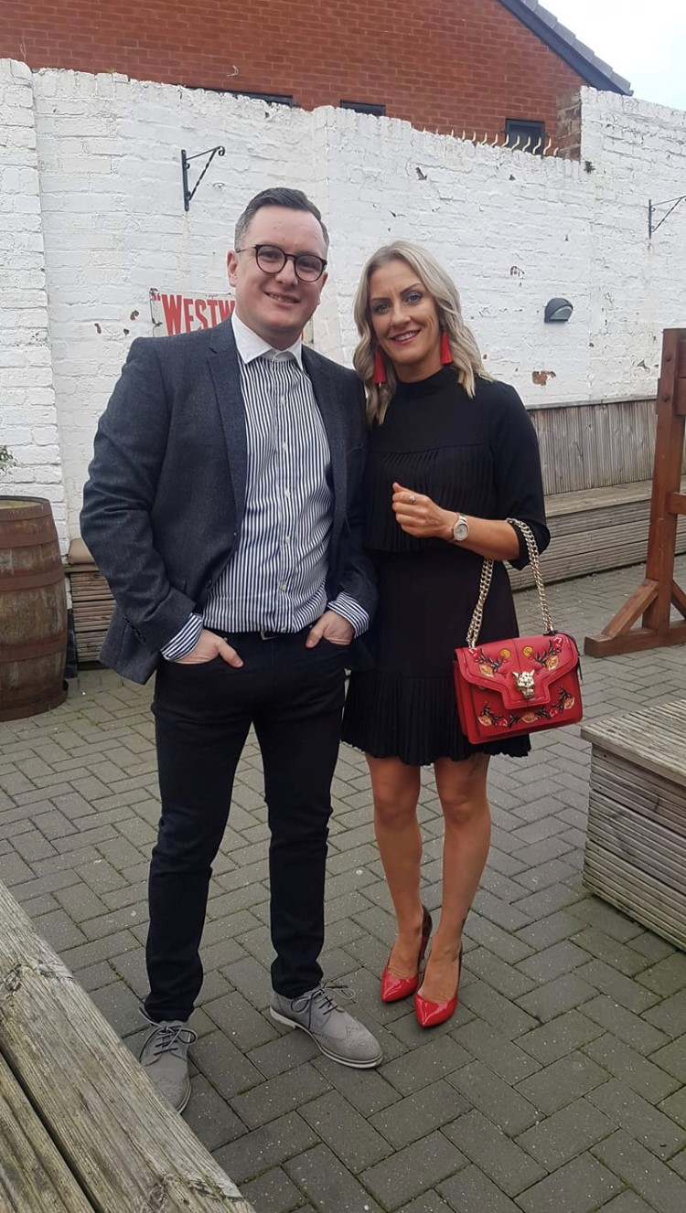 Craig Spillane and his partner Carrie. Credit: LADbible
