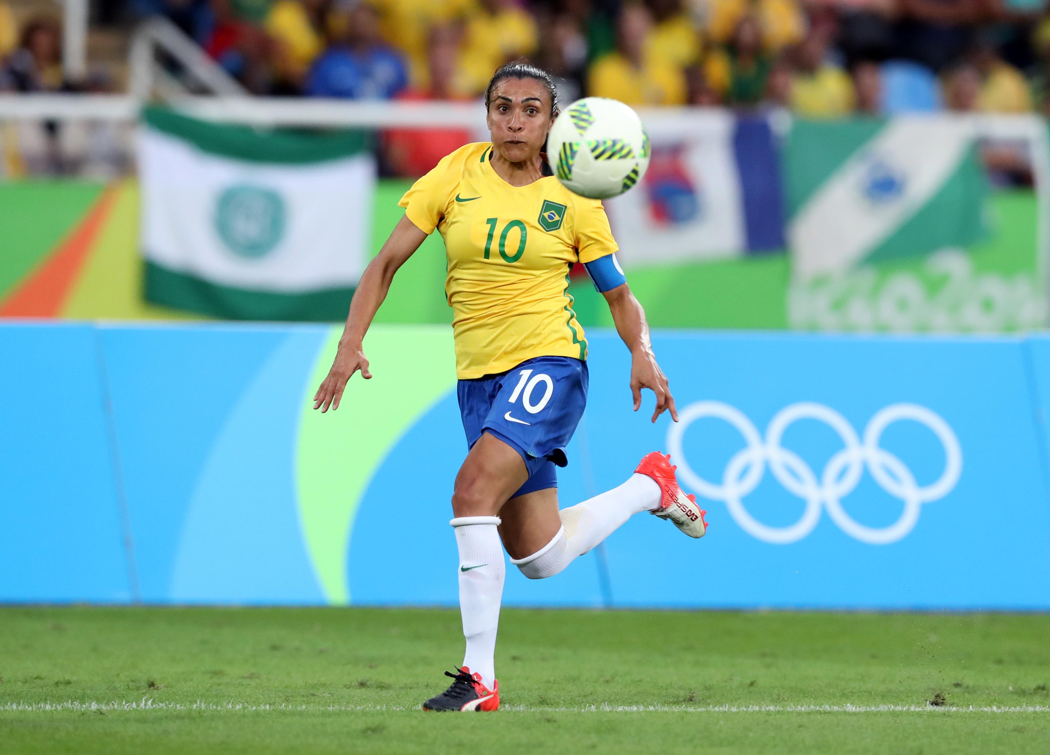 Brazilian star Marta has been dubbed 'Pele in a skirt'
