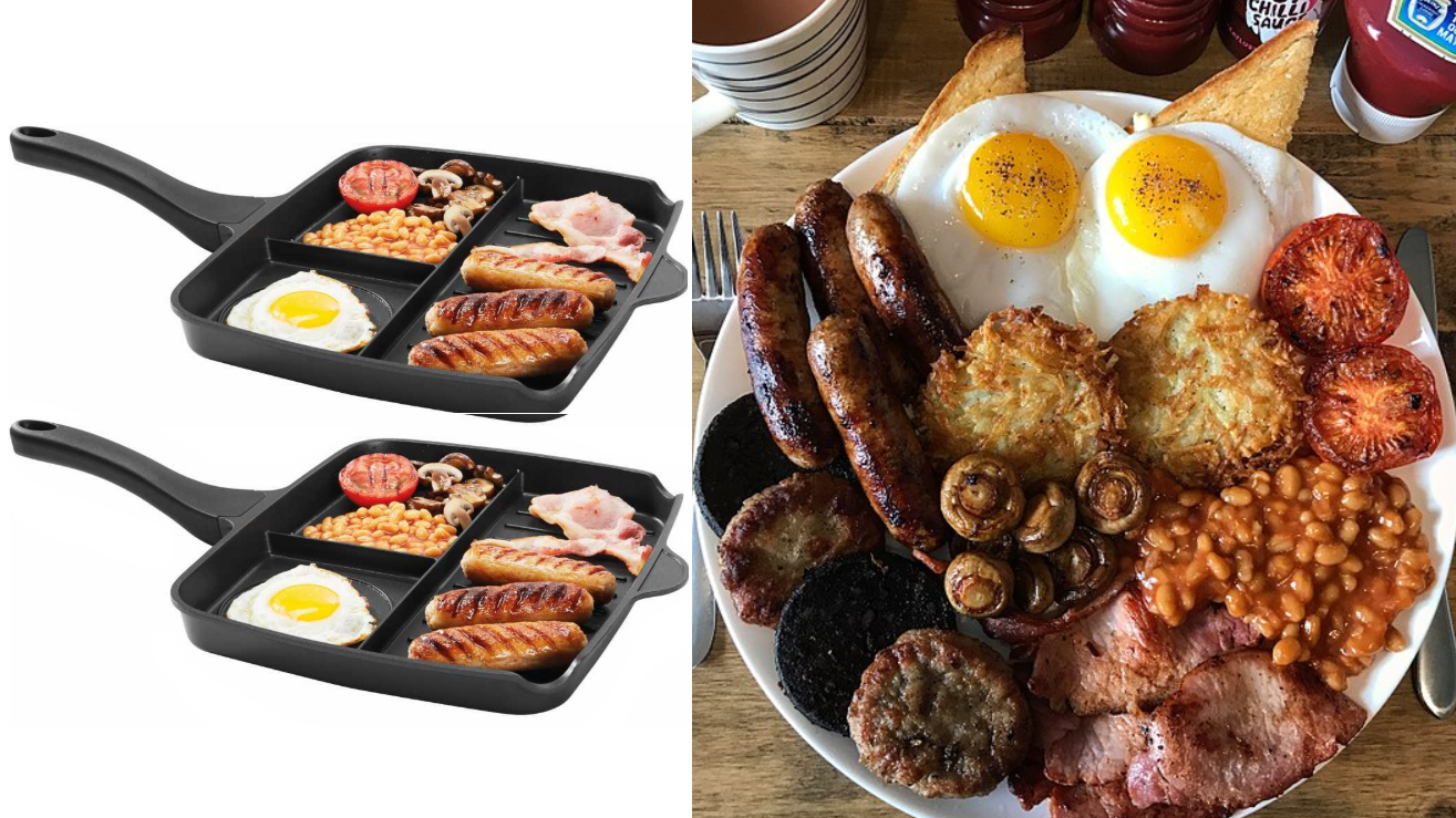 Lidl's £12.99 Multi-Section Frying Pan's Perfect For Cooking A Full English Brekkie