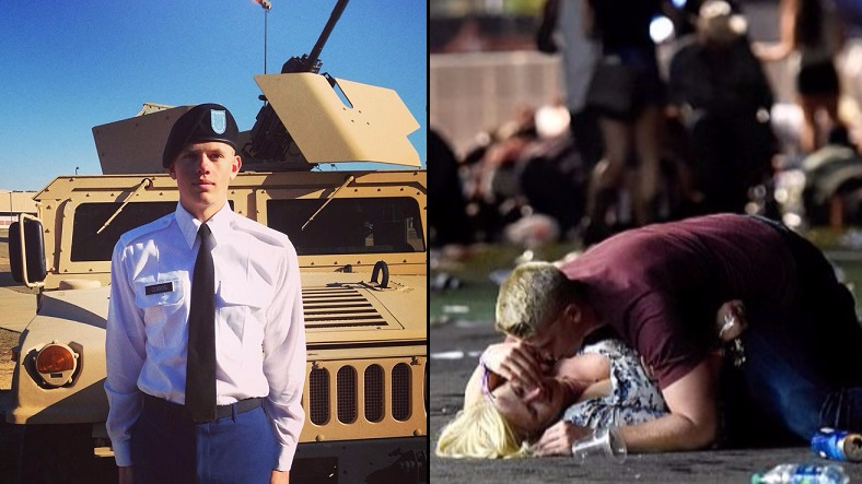 Man Pictured Protecting Woman At Vegas Shooting Is A US Army Soldier
