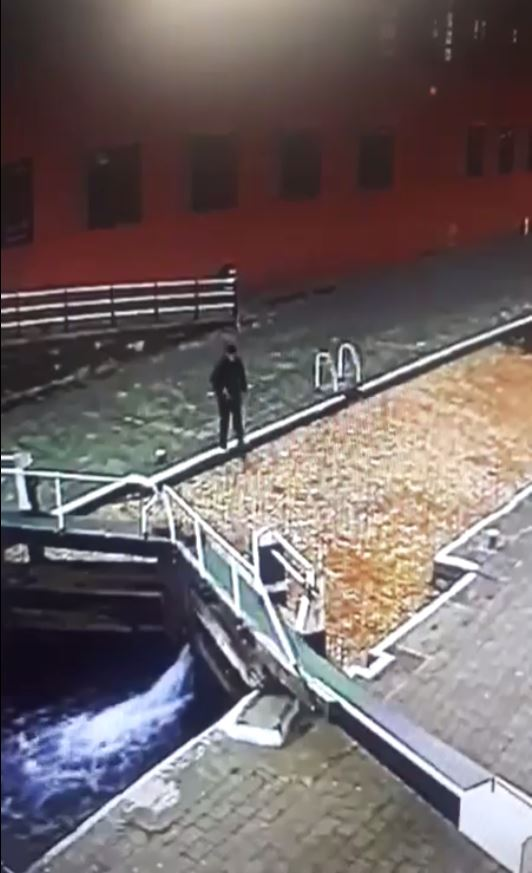 He was staring at his phone and mistook the water for part of the path. Credit: BPM