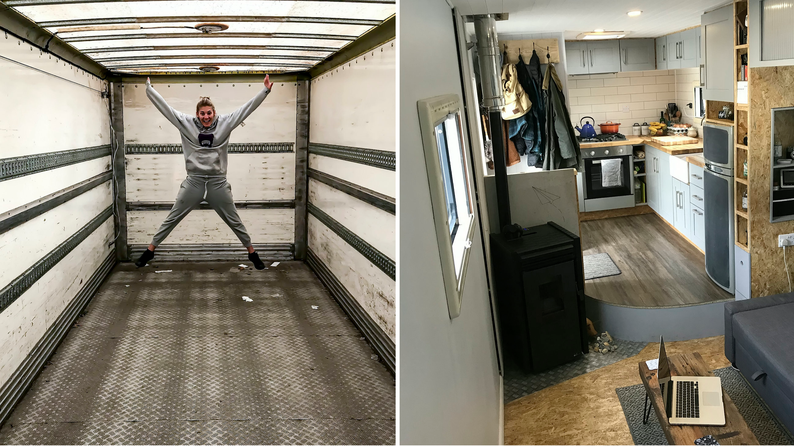 Couple Spend £20k Transforming Old Bread Lorry Into Dream Mobile Home
