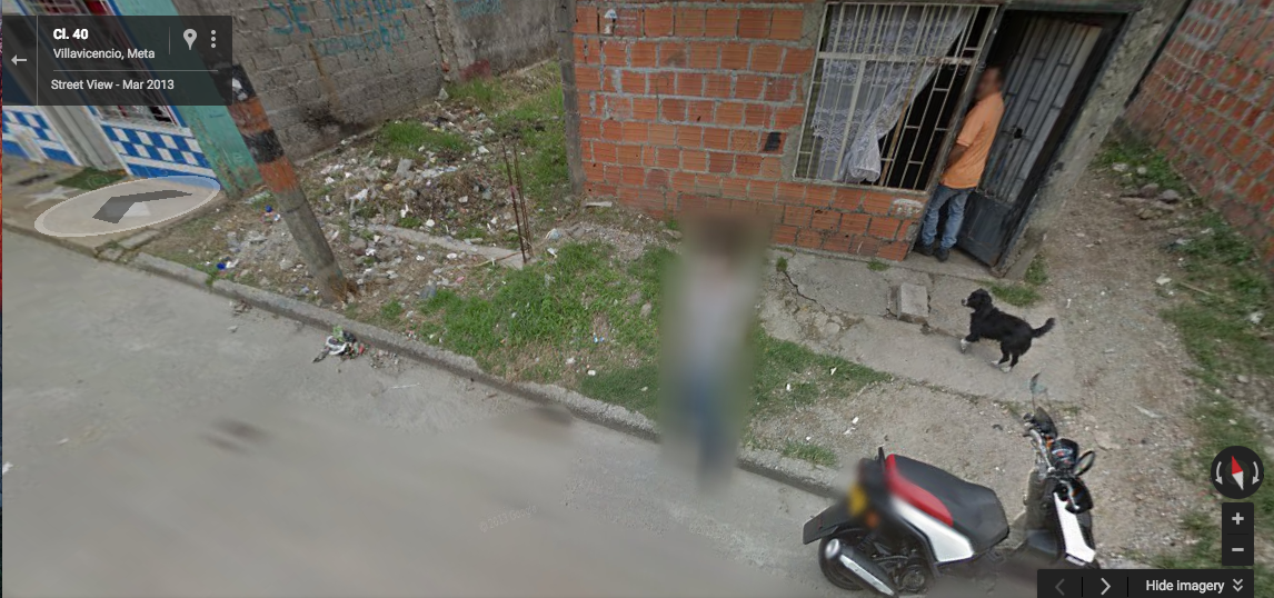 It's not clear if the dog was an accomplice in the crime Credit: Google Street View