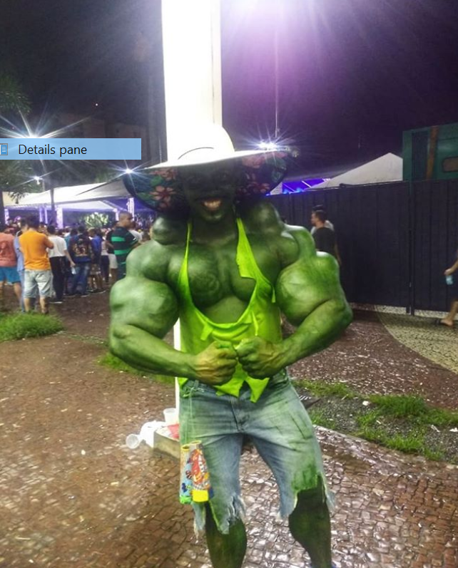 The Brazilian Hulk likes to paint himself green. Credit: Instagram