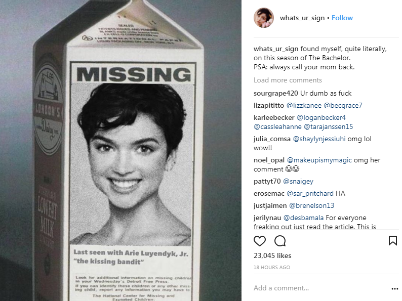 California woman reported missing for months is found as 'The Bachelor' contestant