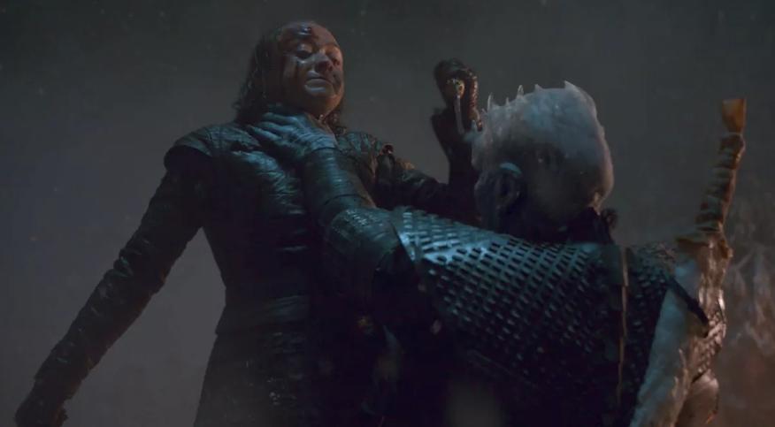 Arya Stark shanked the Night King. Credit: HBO