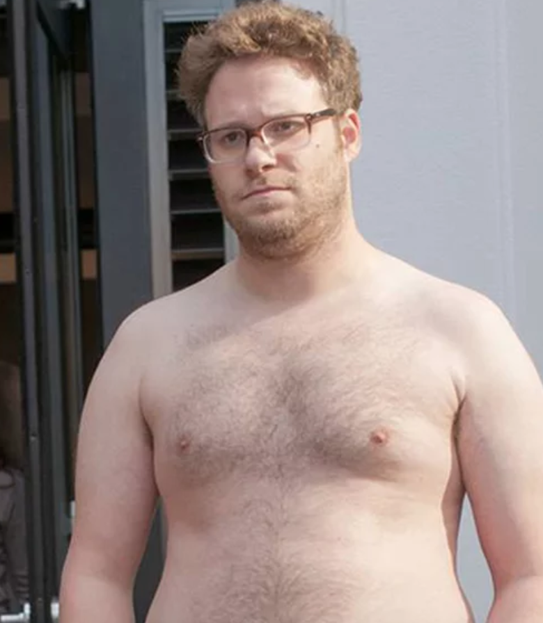 Seth Rogan in Bad Neighbours is peak dad bod. Credit Universal
