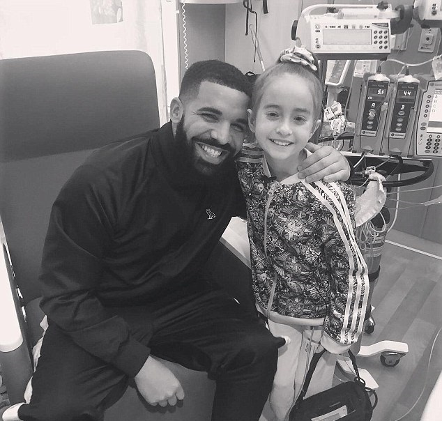 Drake grants wish to 11-year-old girl at Lurie Children's Hospital
