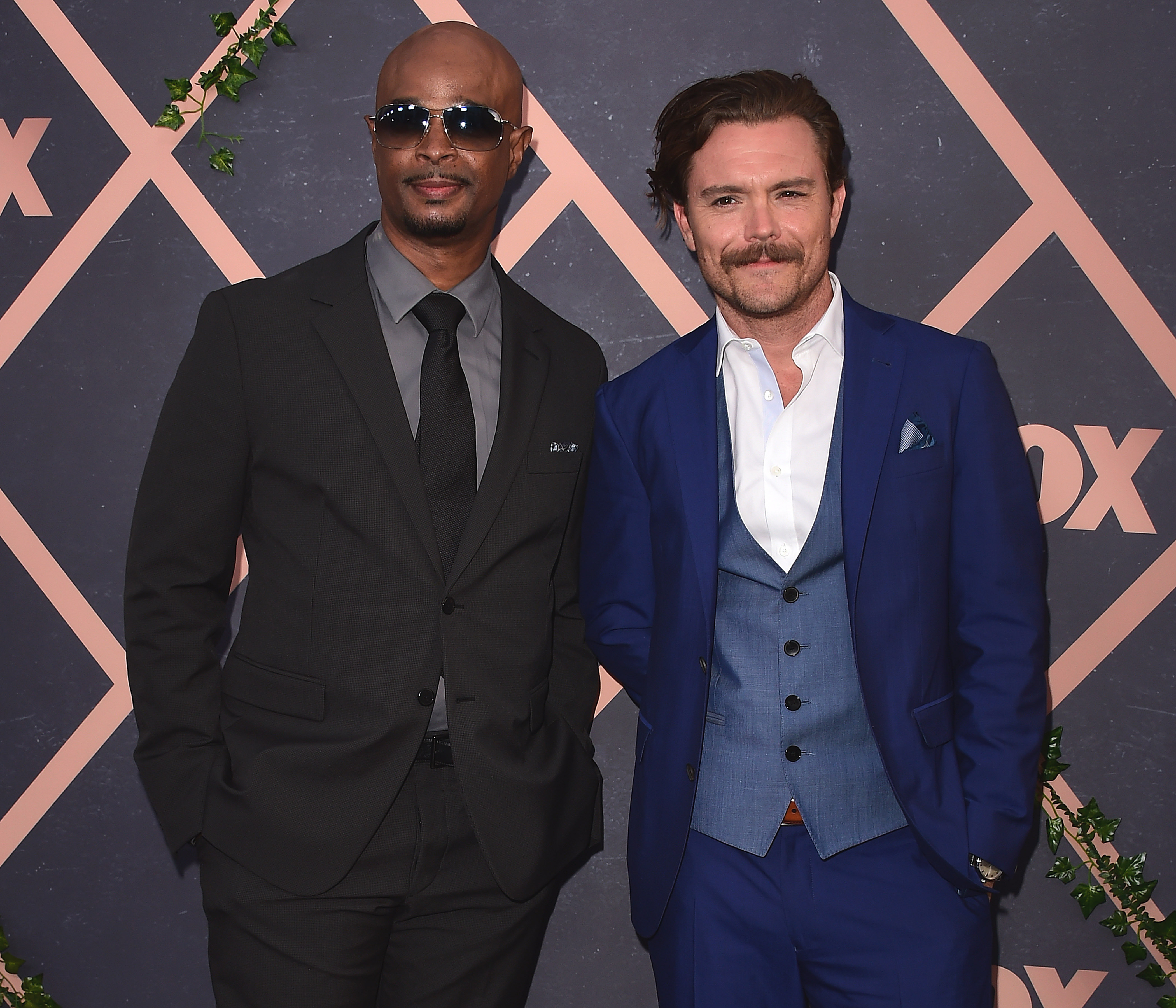 Clayne Crawford and Damon Wayans. Credit: PA