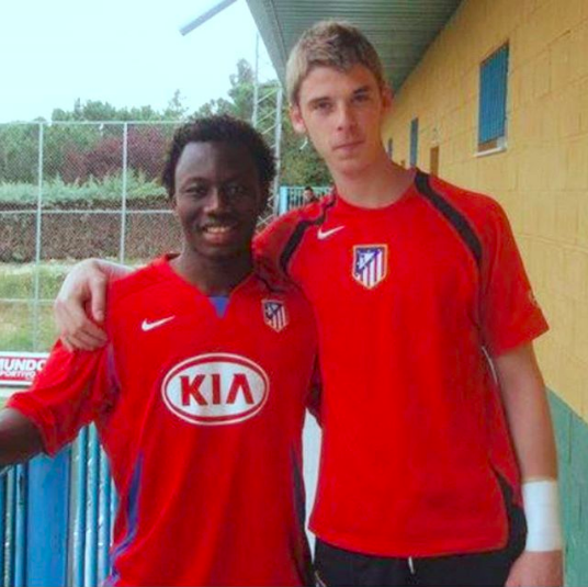 Sadick Adams and David de Gea played together for Atletico Madrid B