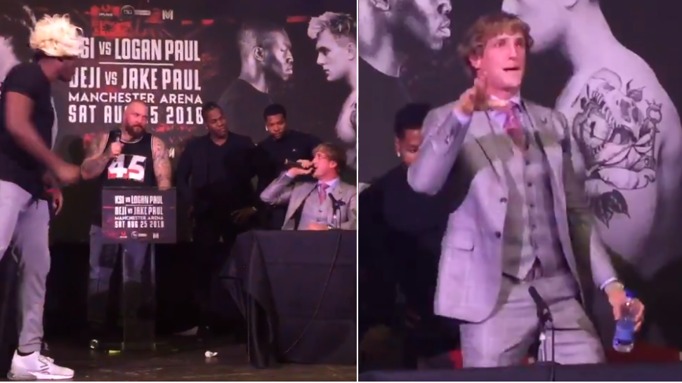 Logan Paul Walks Off Stage During Boxing Press Conference In London