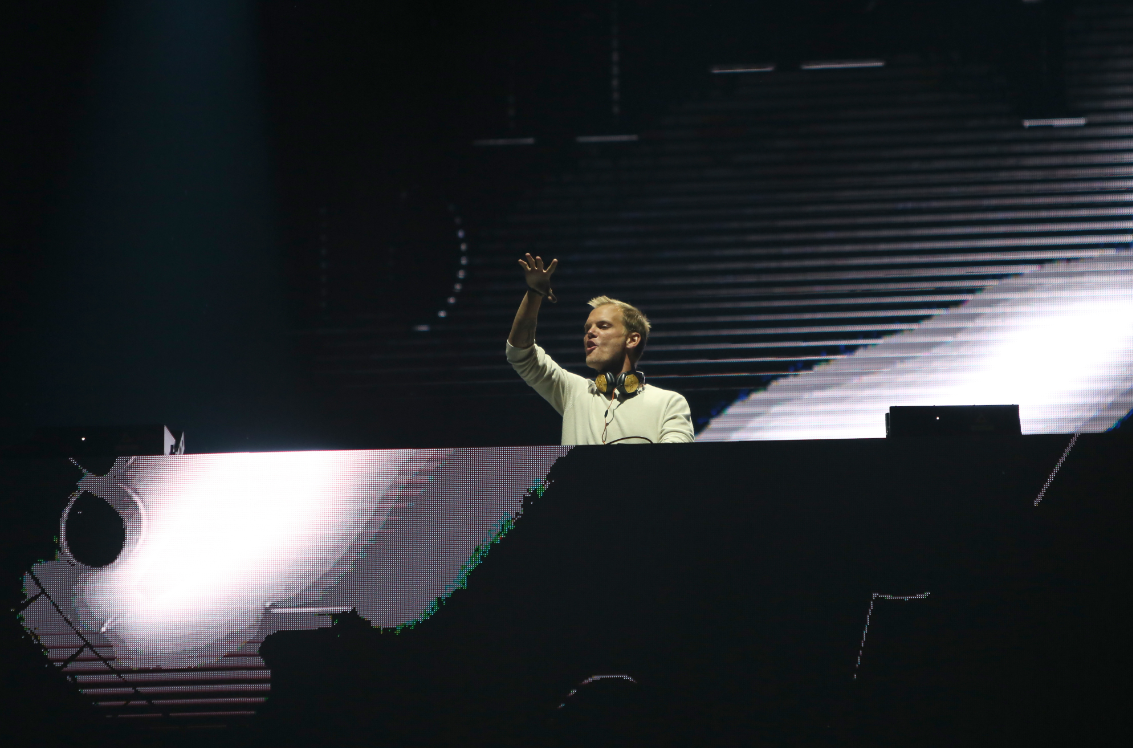 Avicii performing on stage. Credit: PA