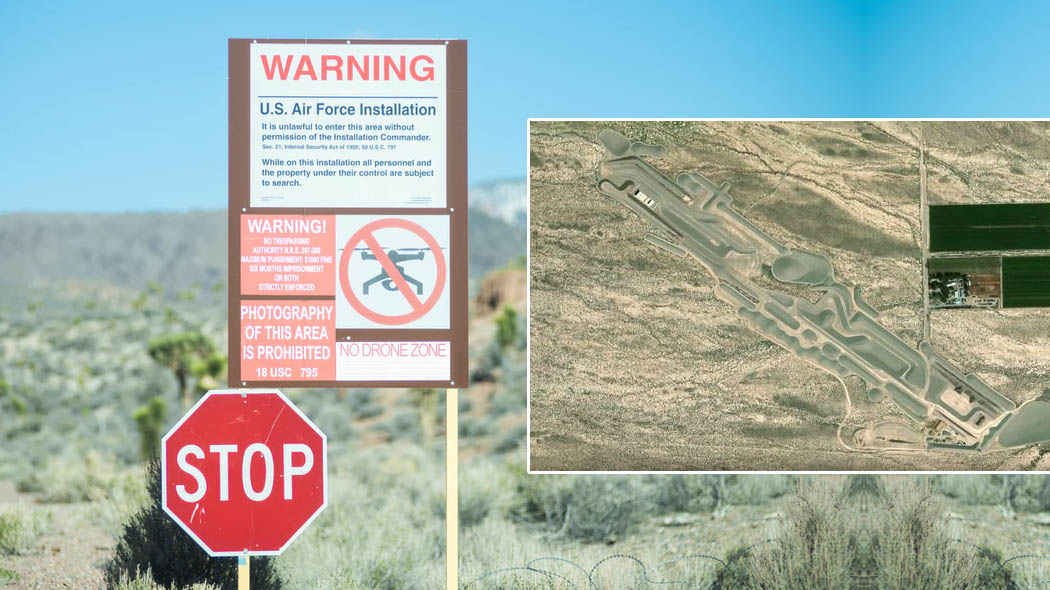 Google Maps: The Mysterious Underground Base Found In Area 51 - LADbible