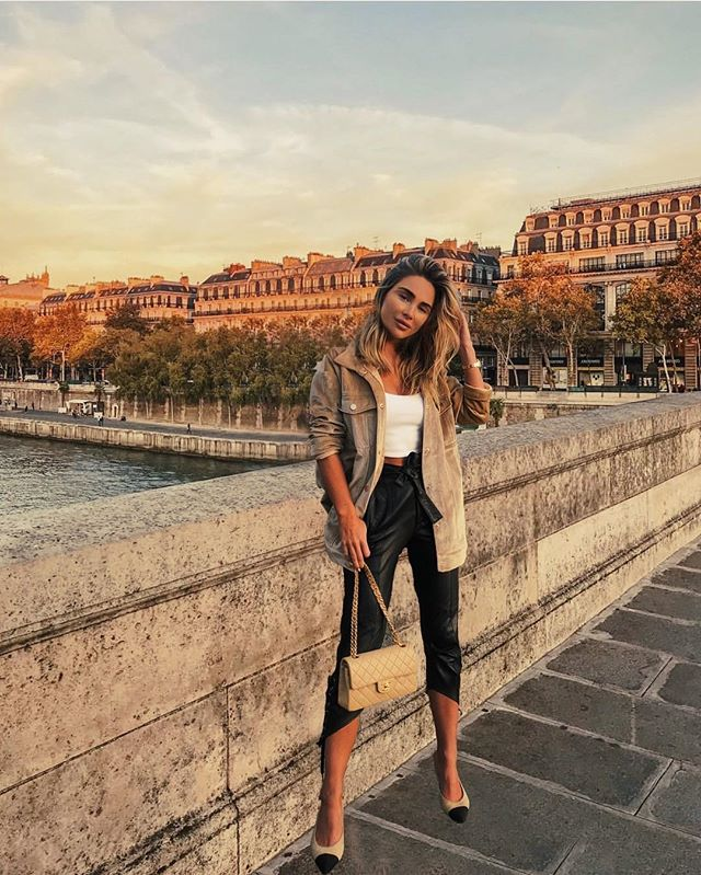 Johanna Olsson admitted to Photoshopping this photo of her in Paris. Credit: Johanna Olsson/Instagram