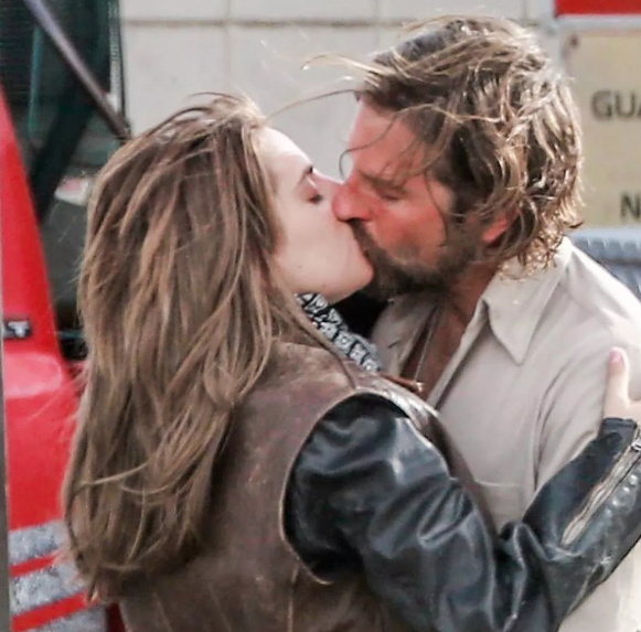 Lady Gaga and Bradley Cooper in A Star is Born - which of course is fiction, not real life. Credit: Warner Bros