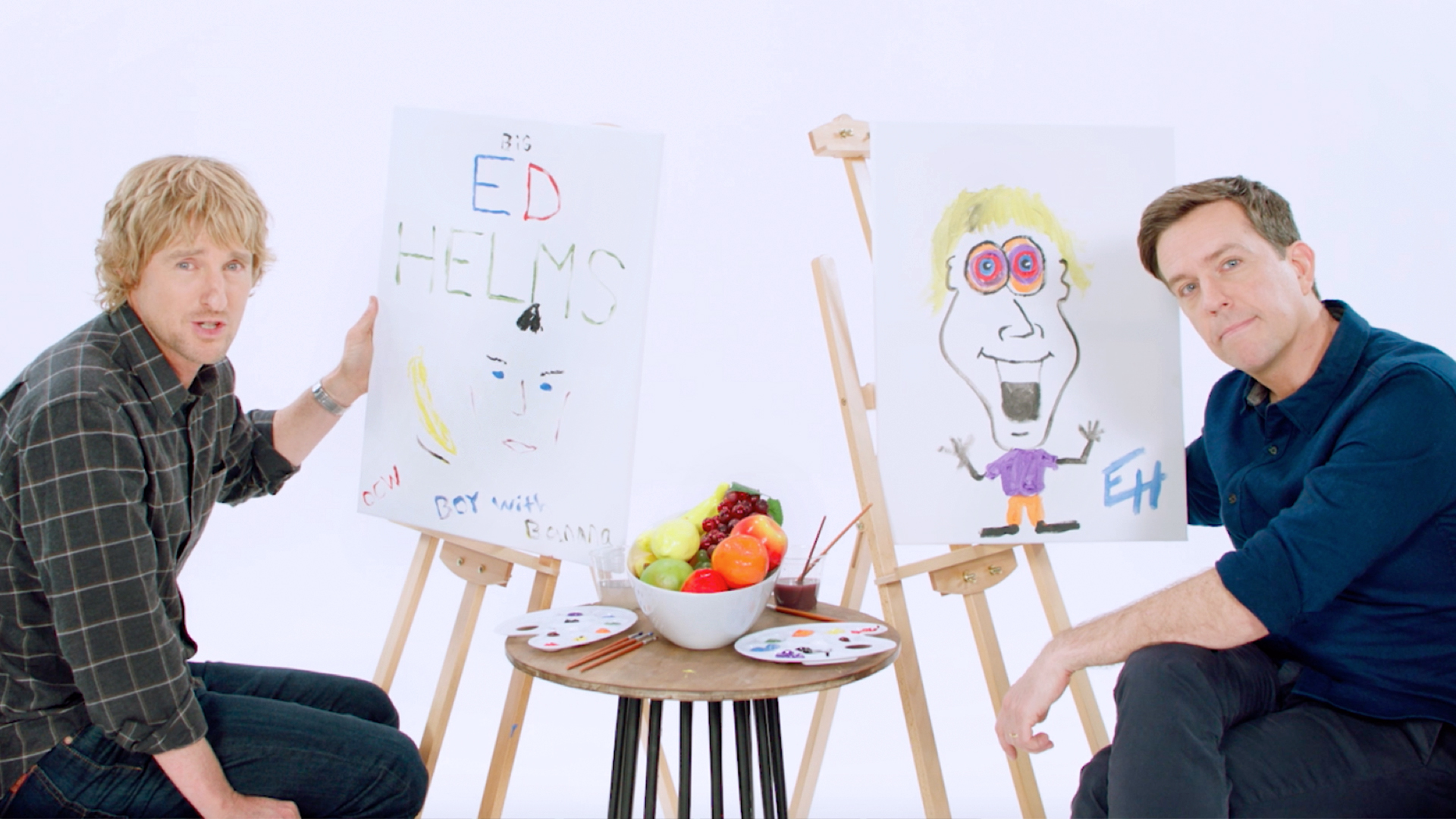 Owen Wilson And Ed Helms Paint Priceless Portraits Of Each Other