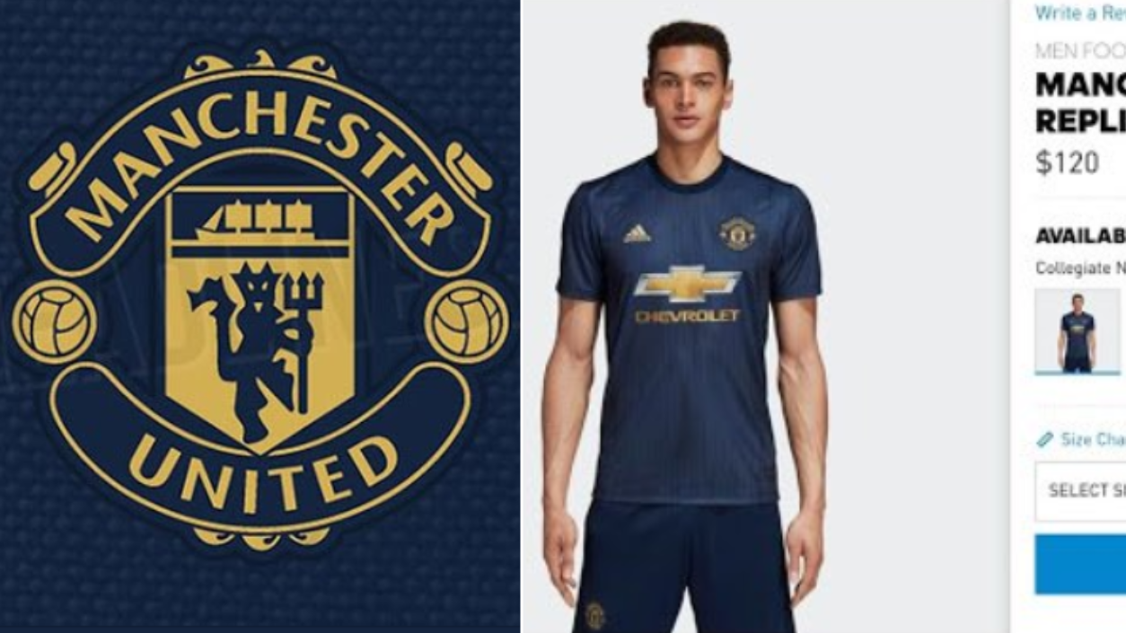 sports shoes f501c 68ca6 Manchester United's 2018/19 Third Kit Accidentally Leaked On ...