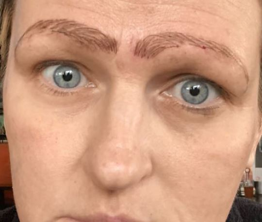 Jami Ledbetter was devastated with her new brows. Credit: WDAF