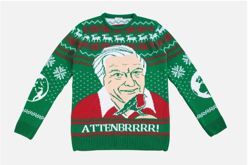 If you love David Attenborough this jumper is perfect for you. (Credit: notjust)