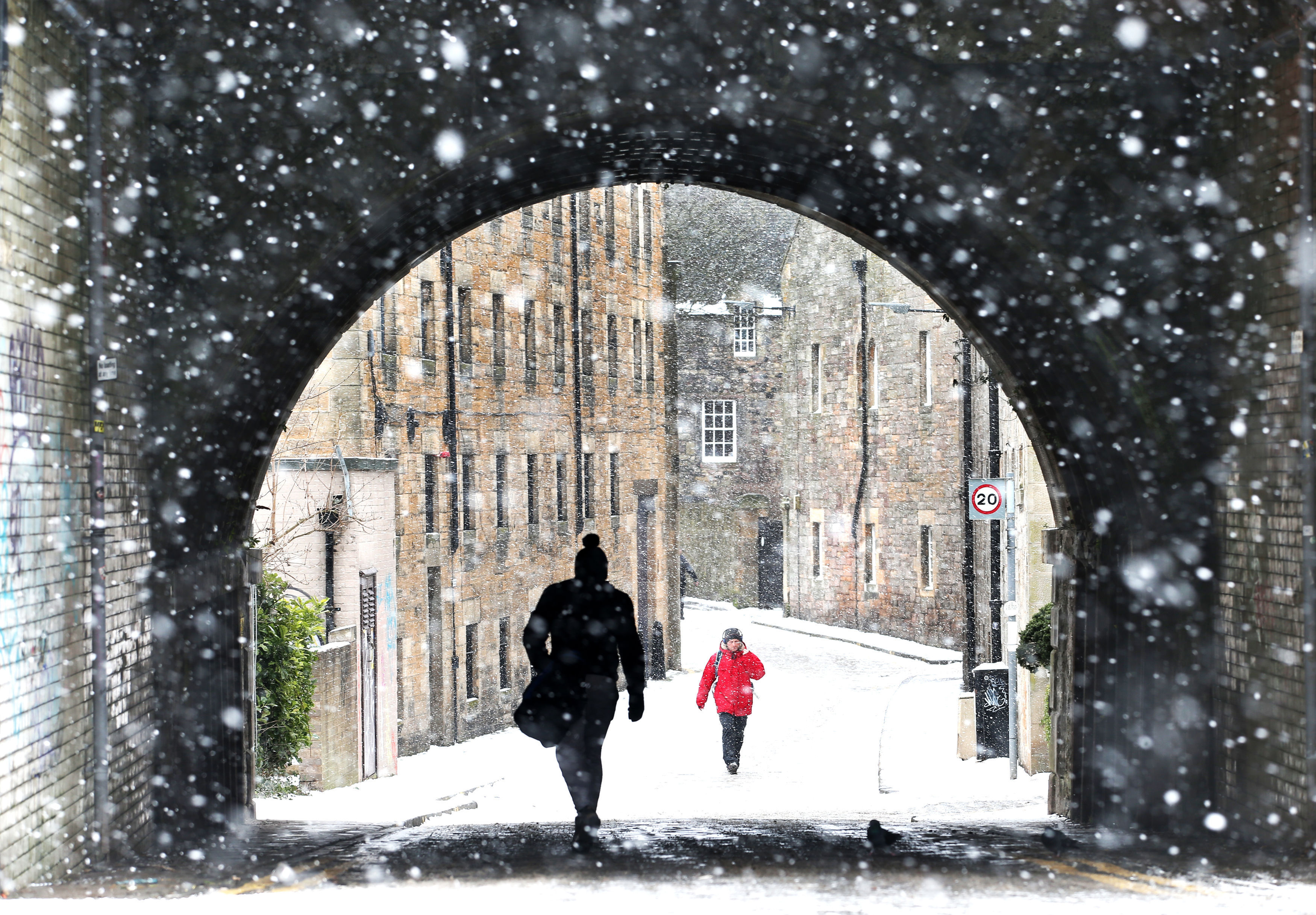 Edinburgh still looking lovely in the snow. Credit: PA