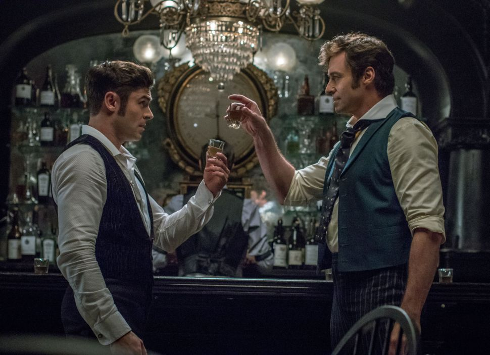 Efron and Jackman in The Greatest Showman. Credit: 20th Century Fox