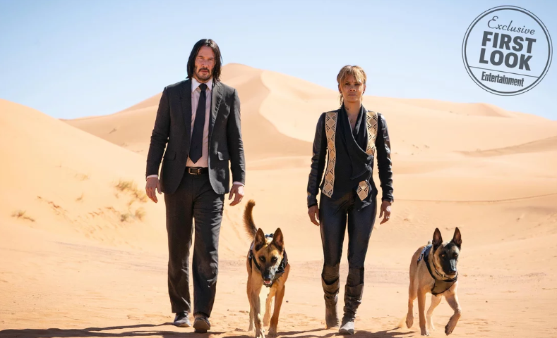 Keanu Reeves and Halle Berry in John Wick 3. Credit: Entertainment Weekly/Lionsgate