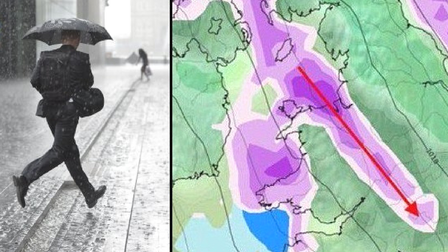 Weather Graphic Makes Storm Caroline Look Like A Massive Penis