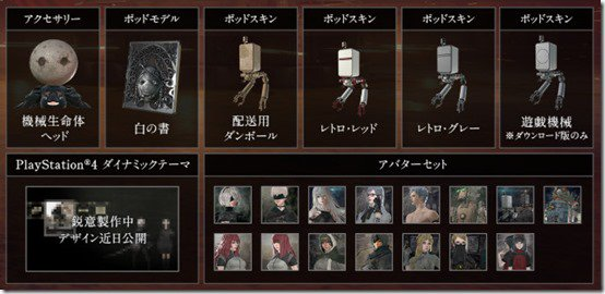Extras in the 'Game of YoRHa Edition. Credit: Square Enix