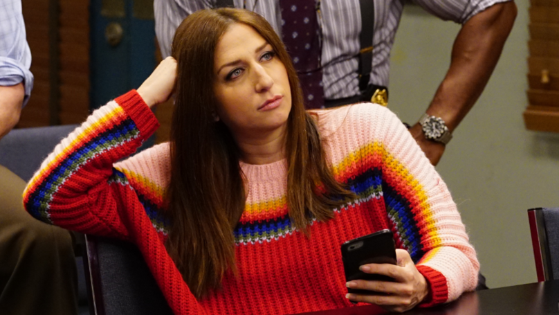 The real Gina Linetti, played by Chelsea Peretti. Credit: Brooklyn Nine-Nine/Fox/NBC