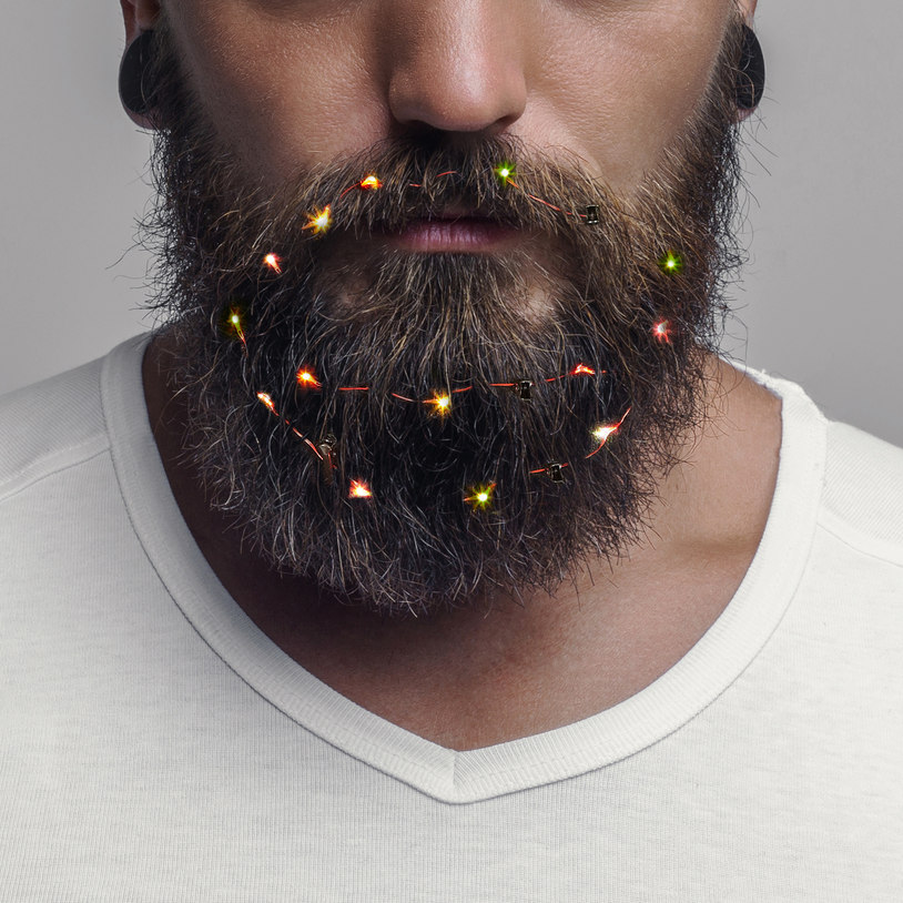 You Can Now Buy Christmas Fairy Lights For Beards Ladbible