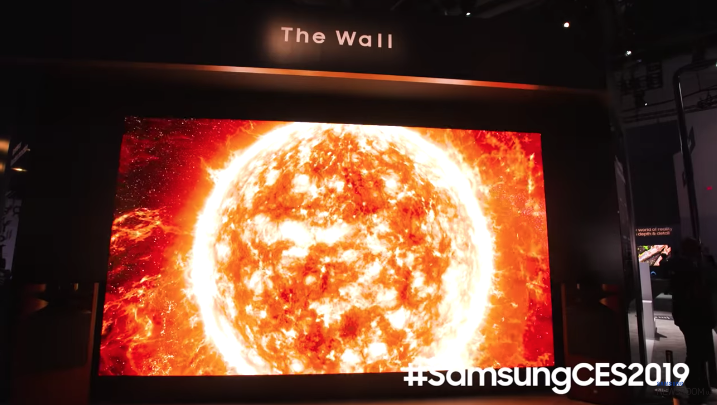 It's one hell of a big TV. Credit: Samsung