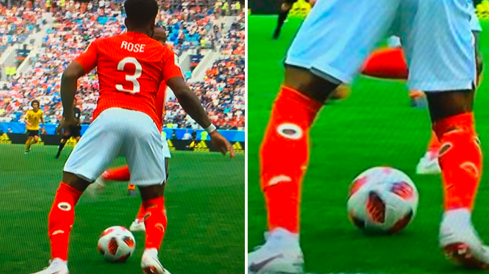 Danny Rose's Socks Were The Big Talking Point During First Half Of England-Belgium Third Place Play-Off