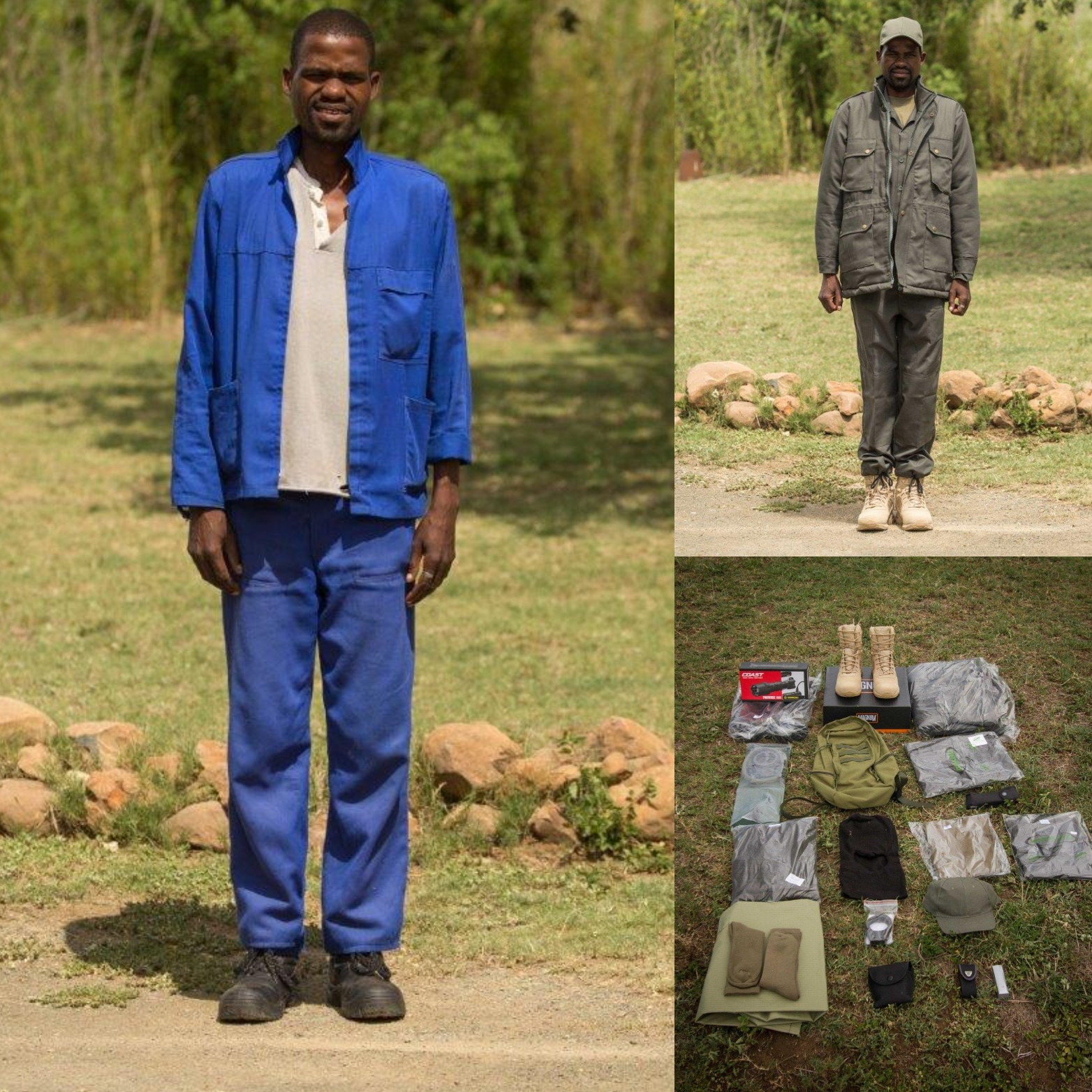 The basic equipment and uniform required for one ranger, which costs around $1000. Credit: Game Rangers Association Of Africa