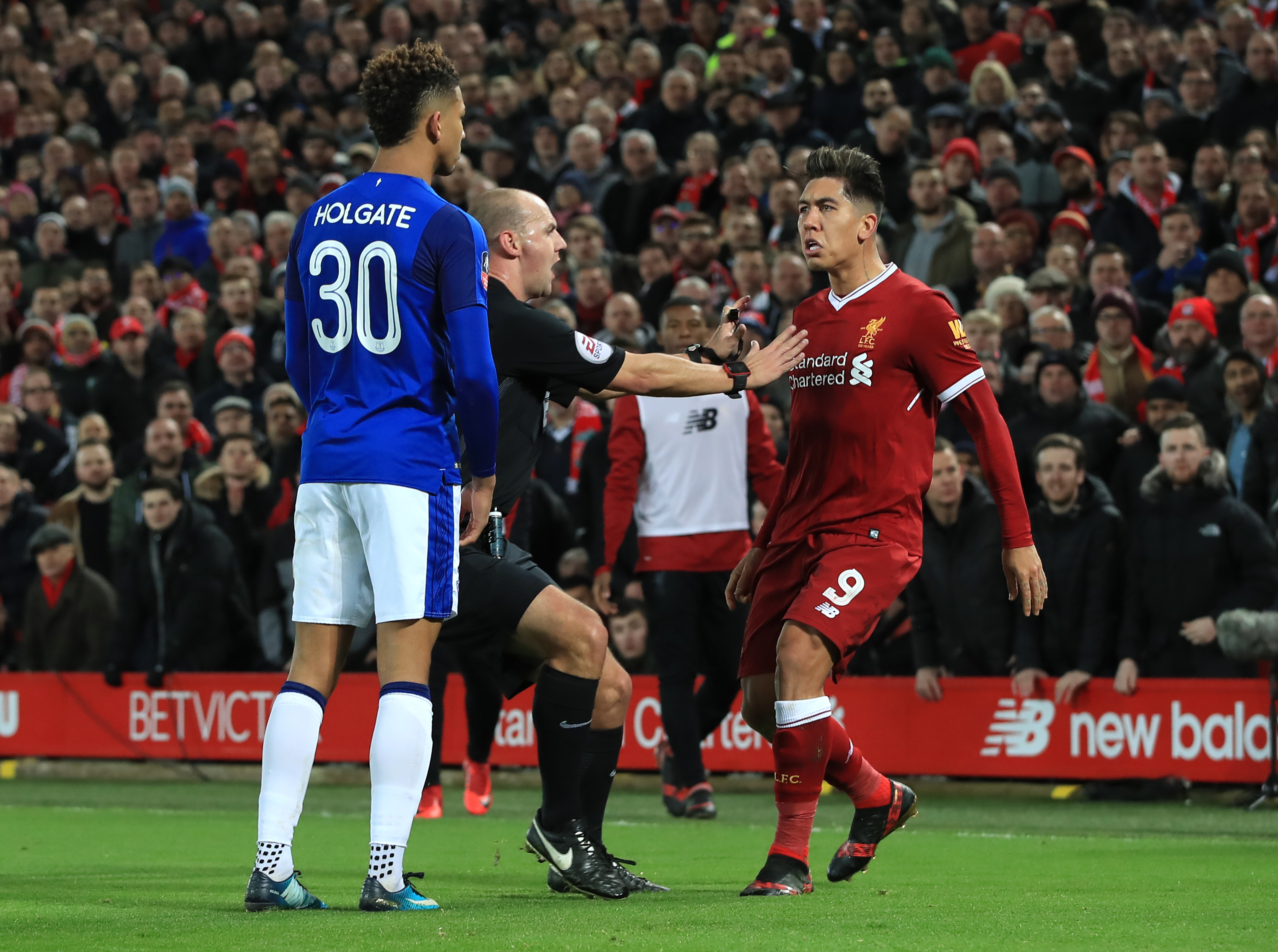 Roberto Firmino-Mason Holgate row to be investigated by FA