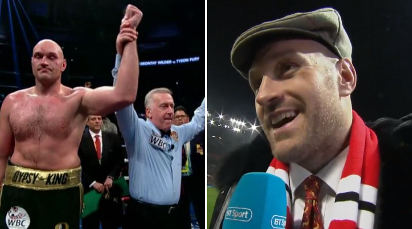 Tyson Fury Aims Funny Dig At Wilder Referee During Manchester United Clash