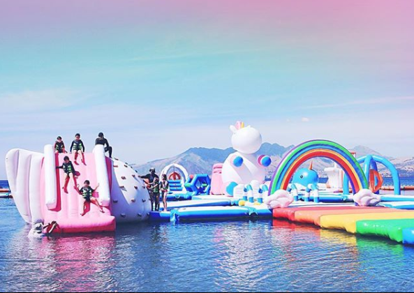 Credit: Instagram/Inflatableisland