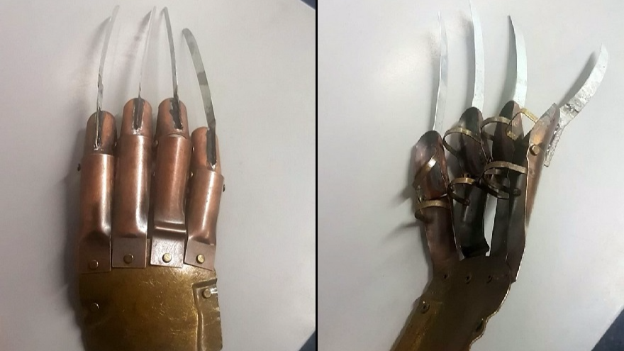 Police Find Freddy Krueger Style Glove In Knife Amnesty Bin
