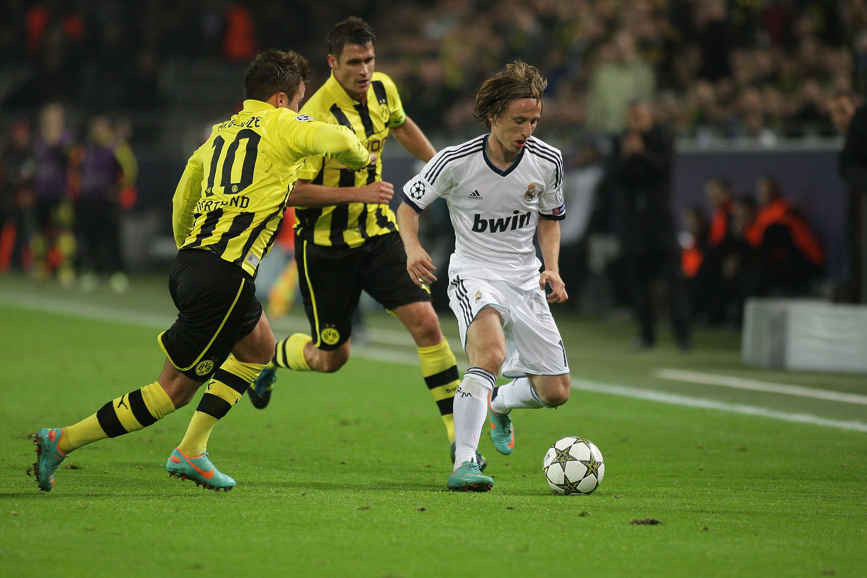Modric at the start of his Real career. Image: PA Images