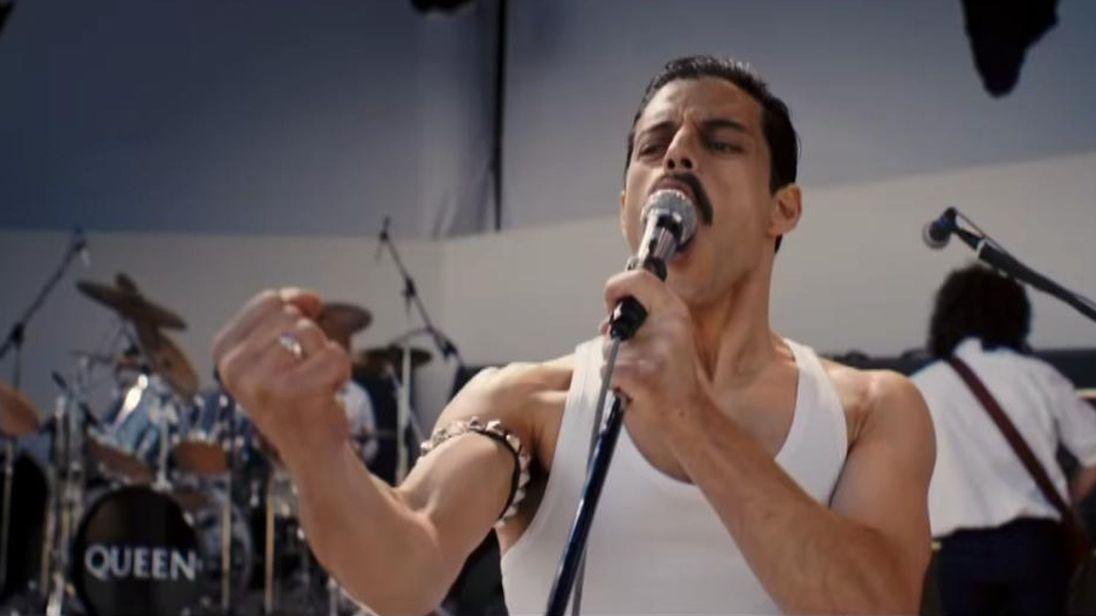 Rami Malek as Freddie Mercury in 'Bohemian Rhapsody'. Credit: 20th Century Fox